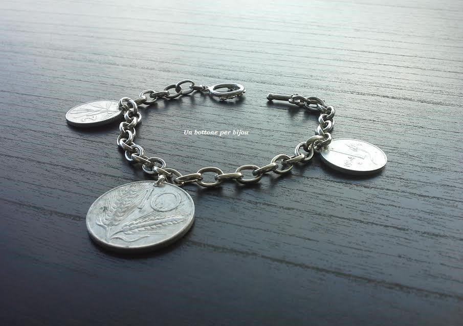 Braccialetto con monete italiane vintage