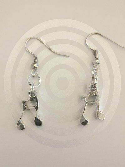orecchini con croma/nota musicale