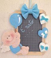 Targa annuncio di nascita su lavagna di ardesia, per bambino