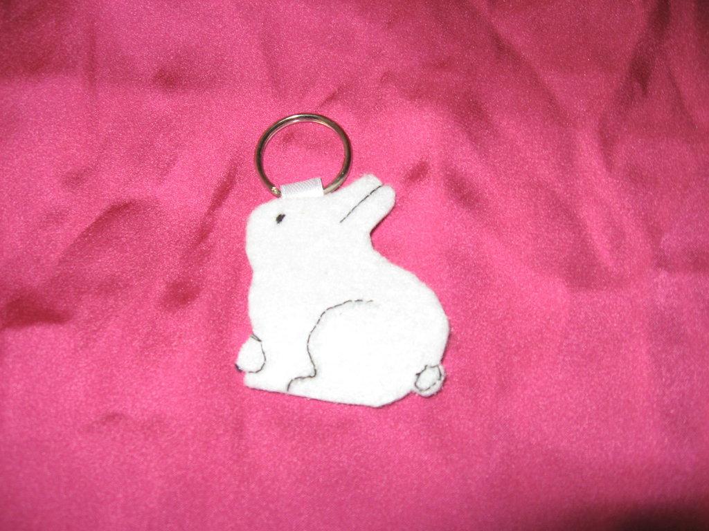 portachiavi coniglietto in feltro
