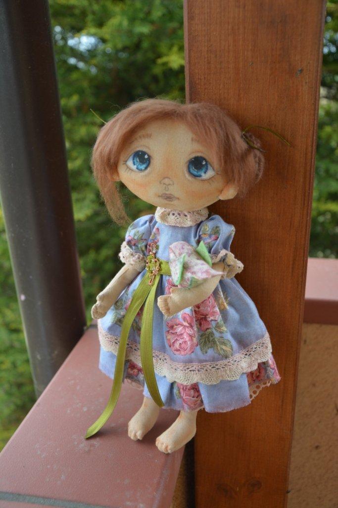 Bambola di stoffa da collezione -riservata per Victoria