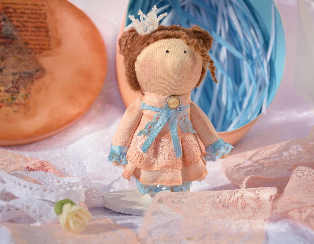 Bambola di stoffa - Principessa del Giardino dei Peschi