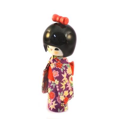 Bambola Kokeshi - Hogaraka Purple A60022