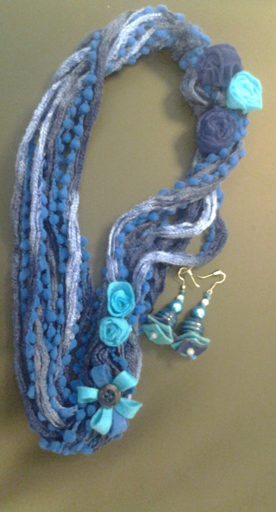 Set Collana e orecchini Bluette Roses