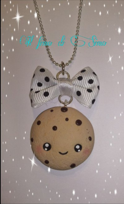 collana biscotto kawaii in fimo
