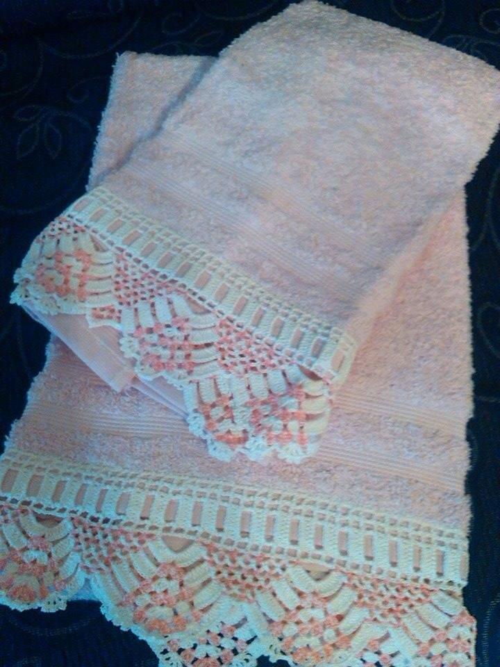 coppia di asciugamani rosa
