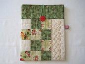 Custodia per table cotone patchwork trapuntata Giardino con pizzo