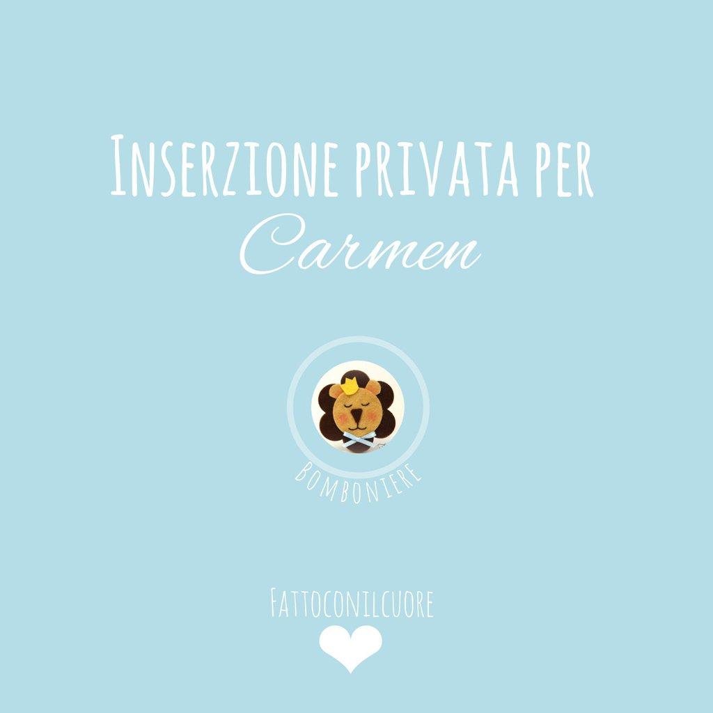 Bomboniere :inserzione privata per Carmen