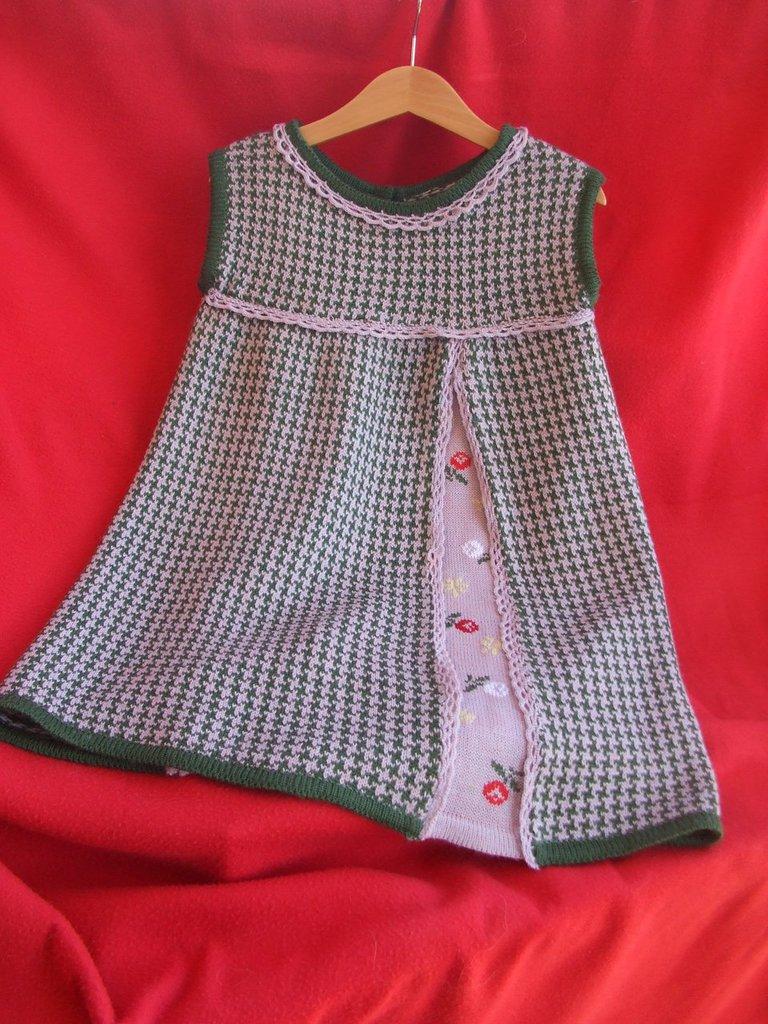 abito in maglia ricamato vestito bimba