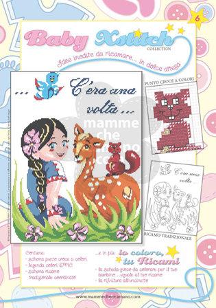 SCHEDA PUNTO CROCE PER COPERTINE CULLA E LETTINO - BABY XSTITCH COLLECTION N. 6