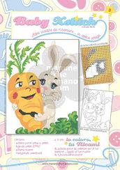 SCHEDA PUNTO CROCE PER COPERTINE CULLA E LETTINO - BABY XSTITCH COLLECTION N. 8