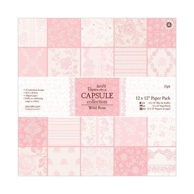 Blocco di carta 30x30 cm - Capsule Wild Rose