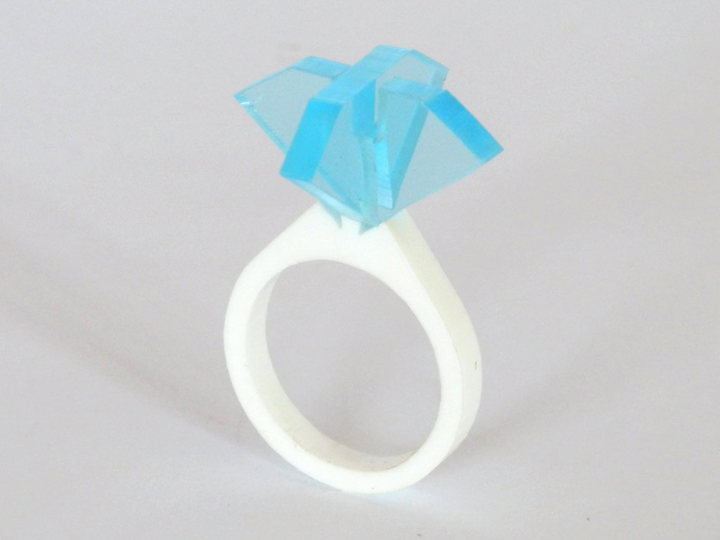 Ollo, anello solitario per sognare_versione color topazio