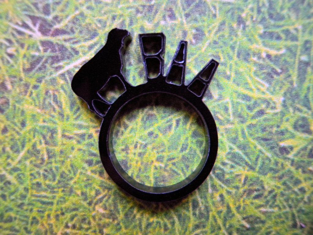 Farm, anello con animale della fattoria_versione con pecora nera