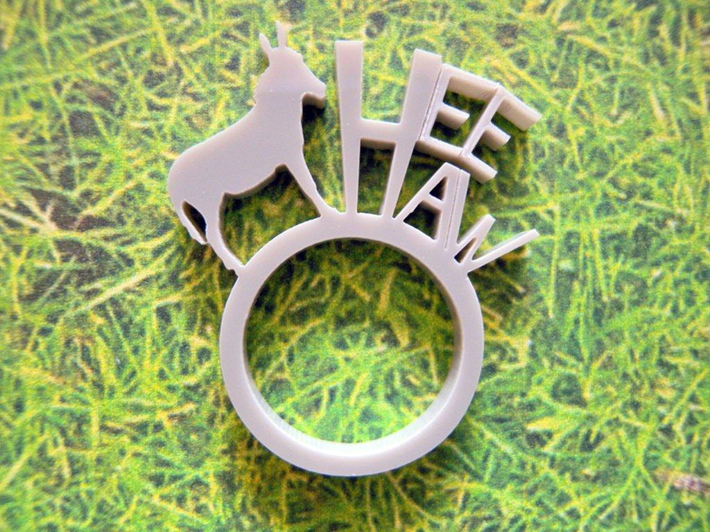 Farm, anello con animale della fattoria_versione con asino