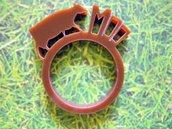 Farm, anello con animale della fattoria_versione con mucca