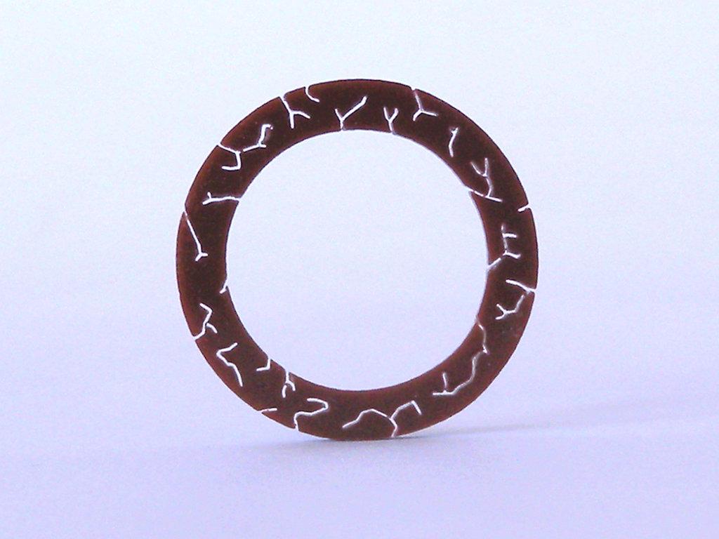 WEAF, anelli simbolici con i 4 elementi primari: acqua, terra, aria e fuoco_versione terra