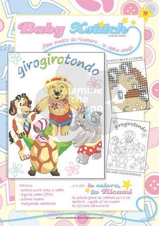 SCHEDA PUNTO CROCE PER COPERTINE CULLA E LETTINO - BABY XSTITCH COLLECTION N. 19