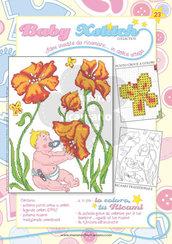 SCHEDA PUNTO CROCE PER COPERTINE CULLA E LETTINO - BABY XSTITCH COLLECTION N. 23