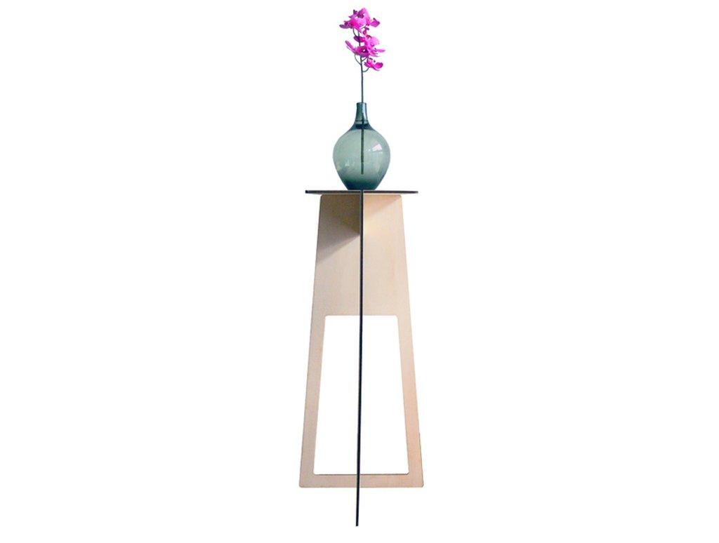 Trois, tavolino tavolo alto trespolo  in legno