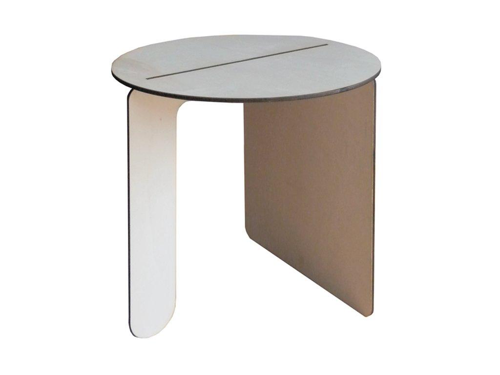 Siklee, tavolino da caffè in legno dal design minimale