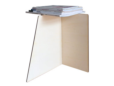Deux, portariviste minimal design in legno
