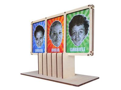 Elva, tripla cornice per foto da muro, da tavolo e digitale