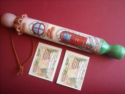 Mattarello di legno decorato a mano, idea regalo originale!