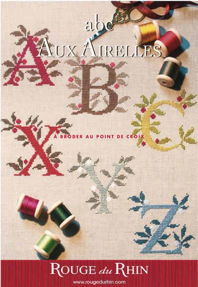 ABC aux Airelles - Alfabeto Con Mirtilli - Schema Punto Croce - Rouge du Rhein