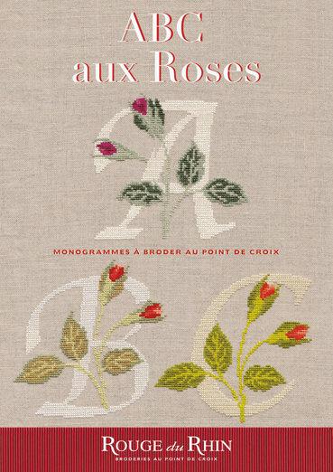 ABC aux Roses - Alfabeto Con Rose - Schema Punto Croce - Rouge du Rhein