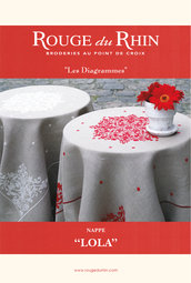 Nappe Lola - Schema Tovaglia Lola - Rouge du Rhin