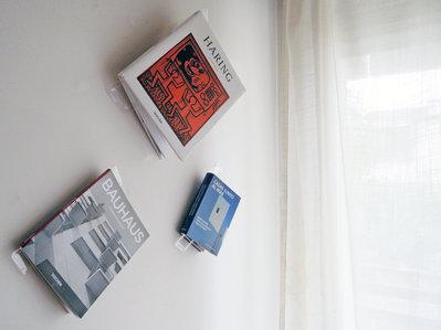 Nolib, segnalibro e mono libreria da muro