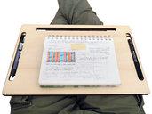 Stripes, scrivania geek 3 in 1: notebook cooler air desk airdesk, organizer-stand per tablet o smartphone e supporto per letto o divano