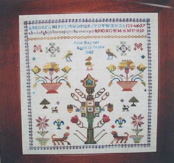 Jane Reyner 1865 - A Welsh Sampler - Schema Punto Croce