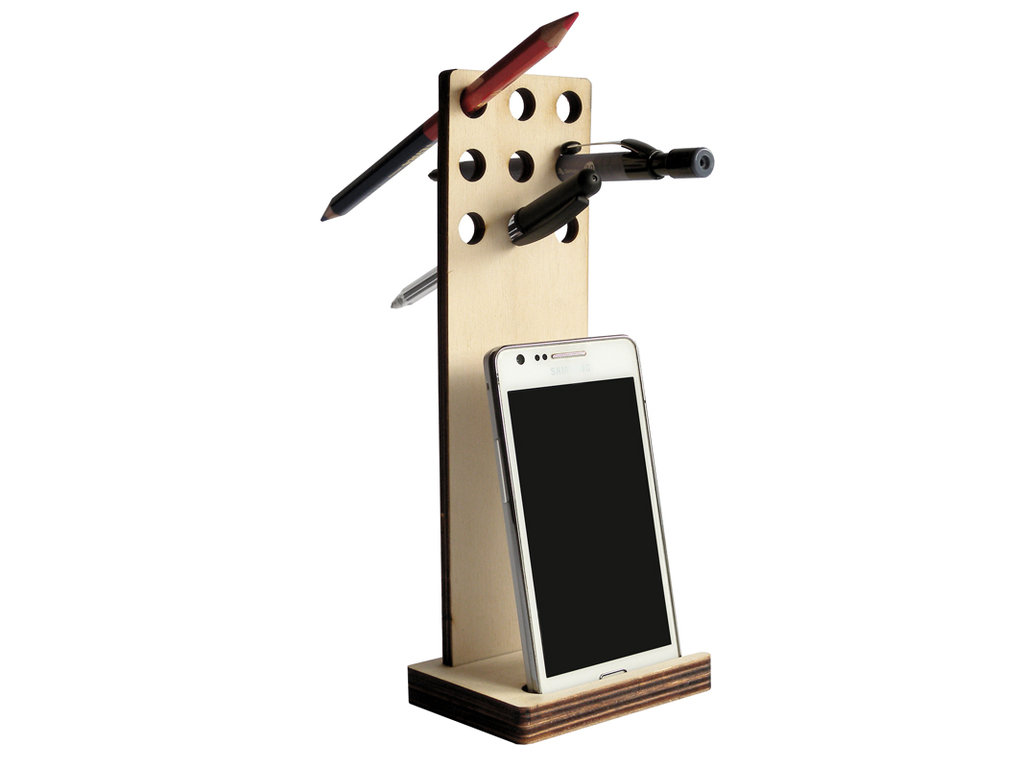 Popp, stand per smartphone, phablet o mini tablet e porta penne per avere sempre sulla scrivania tutto a portata di mano!