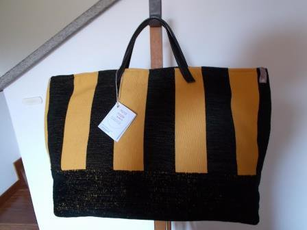 "Borsa ""Tote Bag"" nero-giallo"