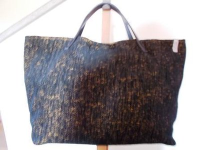 "Borsa ""Tote Bag"" nero striato"