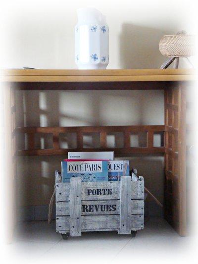 Cassetta porta riviste di recupero per la casa e per te for Riviste per la casa