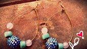 orecchini a forma di goccia con filo regolabile color bronzo