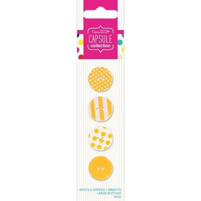Set 4 bottoni - Spots & Stripes Brights Yellow