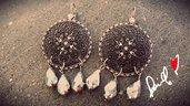 orecchini in filigrana argento e cristalli argento