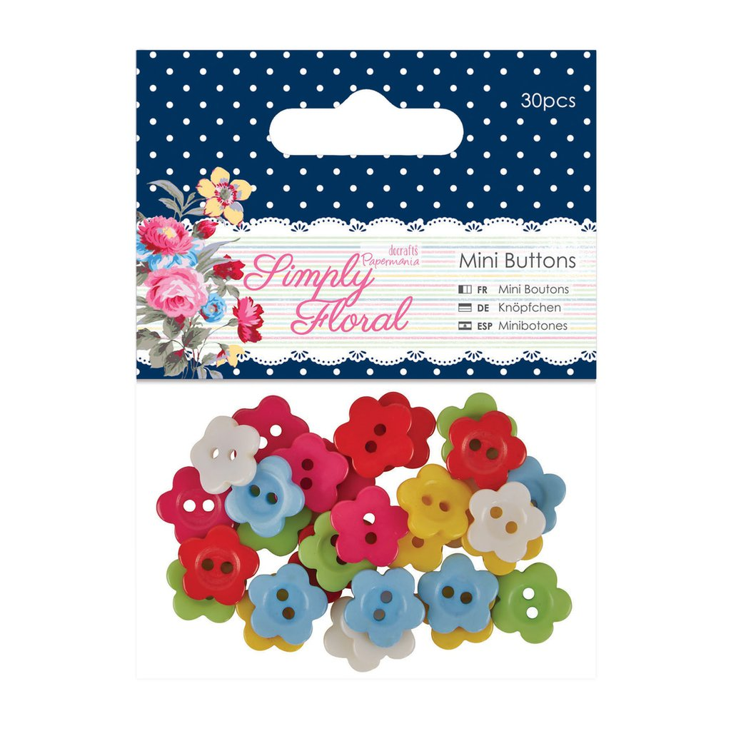 Set 30 mini bottoni - Simply Floral