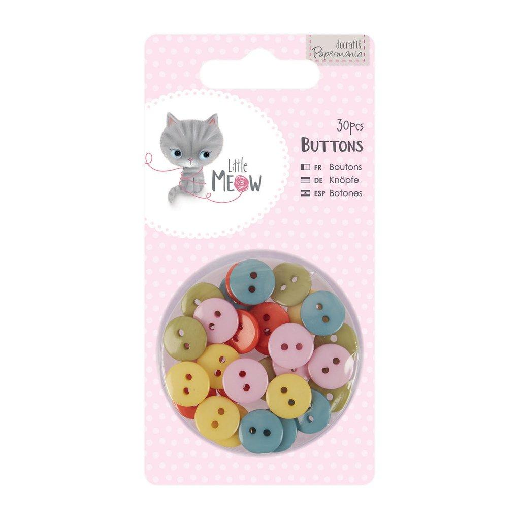 Set 30 bottoni - Little Meow
