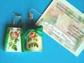 Orecchini a forma di coppo ed embrice in miniatura. Decorati a mano. Idea Regalo!!!