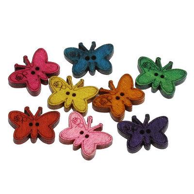 Mix 10 bottoni - Farfalle