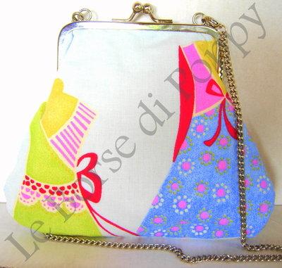 borsetta in cotone stampa manichini
