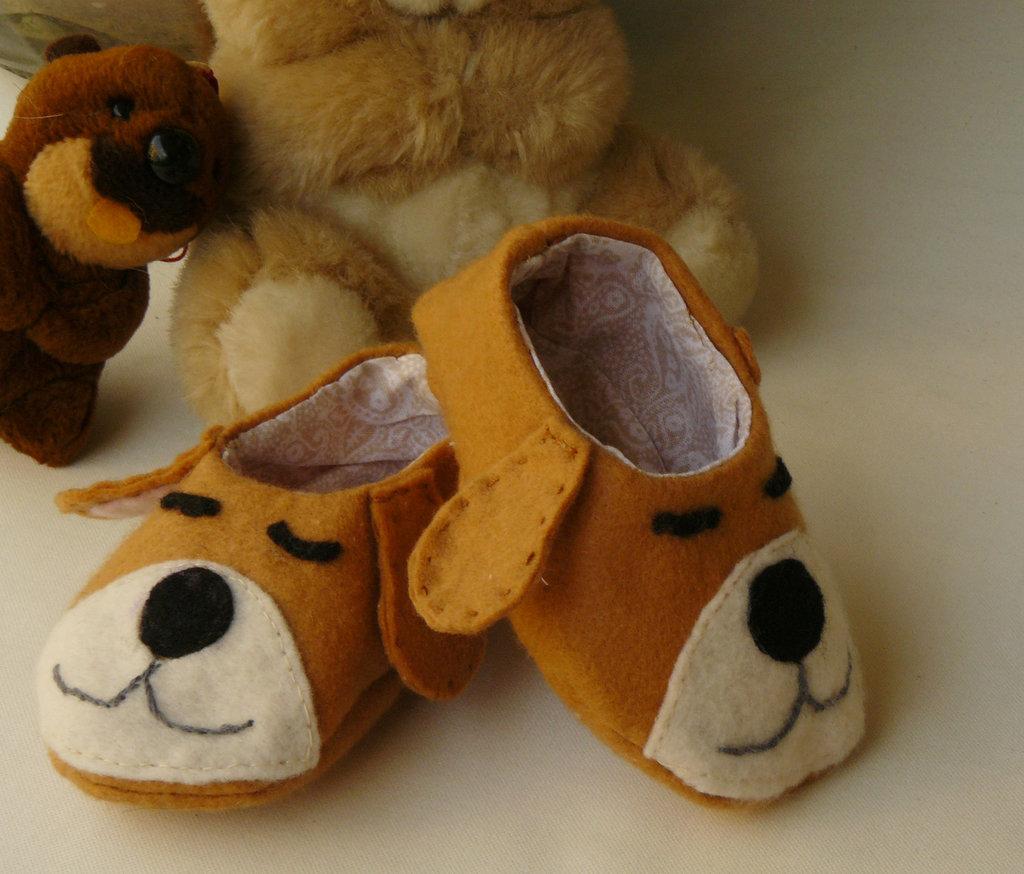 pantofoline cagnolino per neonato