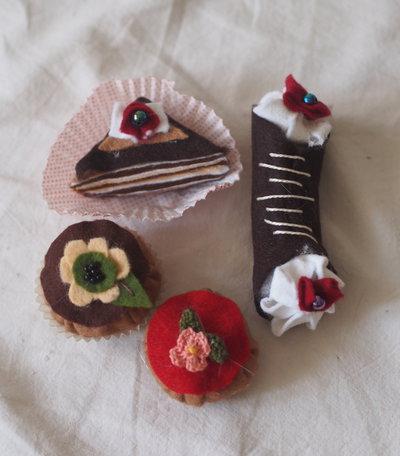 4 mignons pasticceria al cioccolato fondente