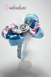 cerchietto frontino corona coroncina ispirato a cinderella cenerentola headband hairband
