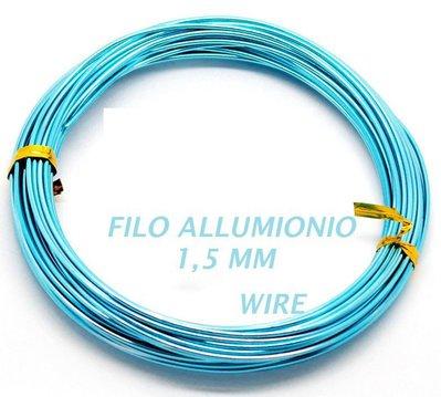 lotto 4 bobine mix wire alluminio da 10 mt  spess 1,5 mm e 1 cavetto acciaio 75 mt leggi